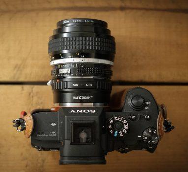 SONY α7R3 にマウントアダプタ付けて Nikkor 50mm f1.2