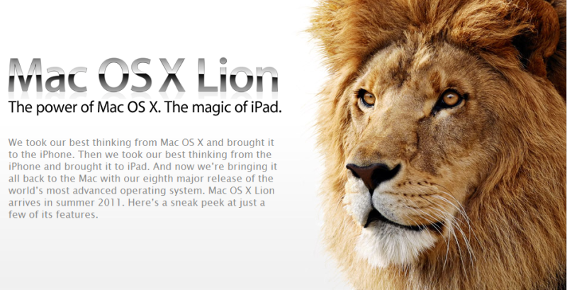 MacOS Lion & 新AmcBookAIR発表!